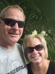 Jennifer Santel and her husband, Kevin, during their vacation in Mexico.