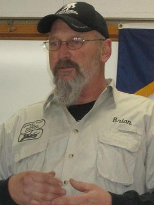 Brian Ball spoke about the local Heroes' Hunt for Wounded Warriors organization at a recent VFW Post meeting.