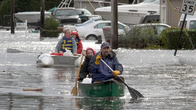 Some residents of the Cherry Quay neighborhood of Brick, N.J., a mix of homeowners and renters, had to paddle their way to safety after Superstorm Sandy.