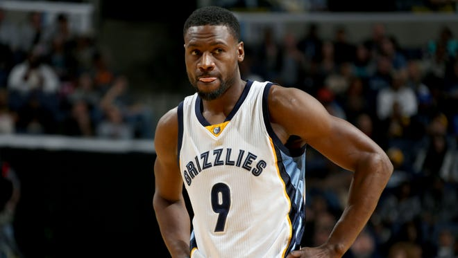 Memphis Grizzlies Tony Allen during the game against the Minnesota Timberwolves.