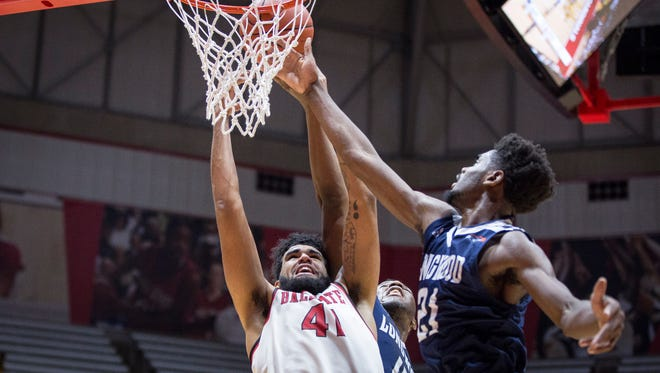Ball State took on Longwood Monday night in Worthen Arena. Ball State won the game 61-45.