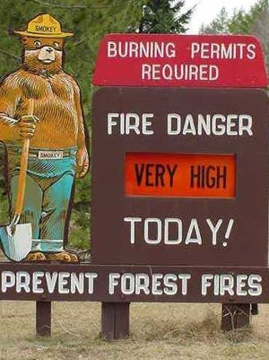 The Wisconsin Department of Natural Resources has set the fire-danger level at very high for much of central Wisconsin.