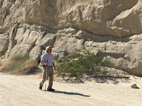 Tony Delgado of Desert Hot Springs, a visually impaired
