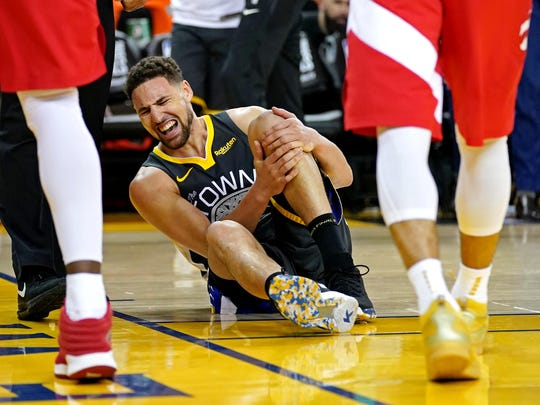 Klay Thompson tore his ACL in Game 6 of the 2019 NBA Finals.