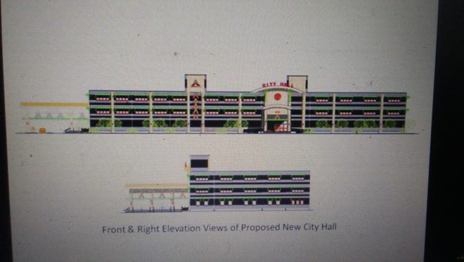 Pictured is a City of Amarillo rendering of a proposed new city hall site from a building the city is considering purchasing.