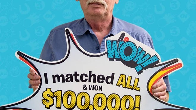 Jeffrey Bock of St. Paul wins $100,000 Minnesota Lottery prize. The winning ticket was sold in St. Cloud.