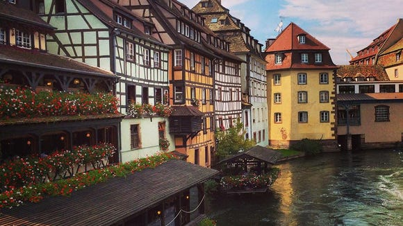 Half-timbered houses in La Petite France in Strasbourg, France (Photo courtesy of Fred Gard '16)