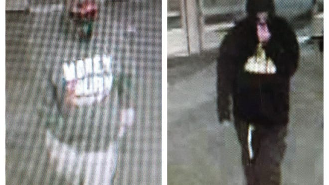 Bellingham police are seeking these two men in regards to an armed robbery Monday night at the Stop & Shop location on Pulaski Boulevard.