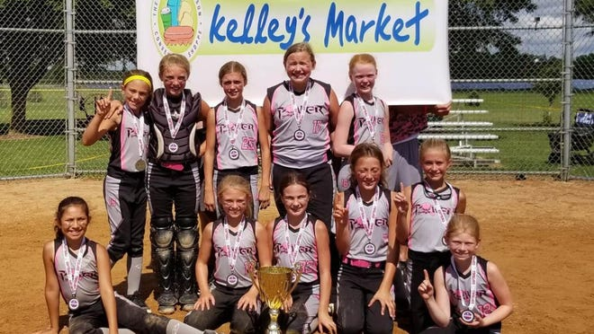 The Poplar Grove Power won the NAFA Northern National title in Eagan, Minnesota, outscoring seven teams by a combined 74-3. Team members are: Megan Kelly, Ava Morris, Kaeyln Kelly, Irelyn O'Brien, Hayden Staver, Alex Huber, Khloe Osborne, Kara Knop, Luna Nino, Rachel Dahl and Carla Krause. Not pictured is coach Joe Kelly.