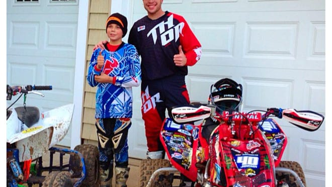Cody Janssen (right) of Kaukauna was named the AMA ATV Pro rookie of the year.