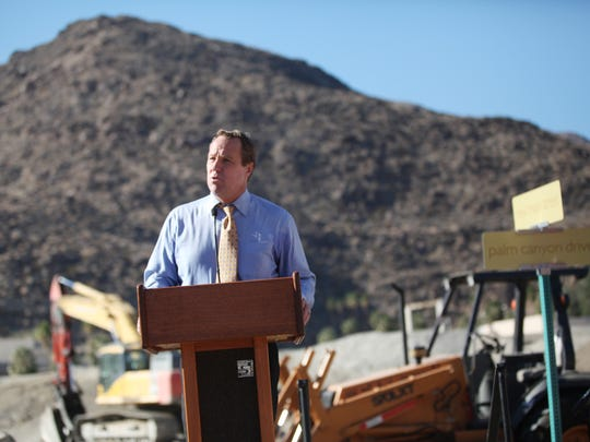 Palm Springs Mayor Steve Pougnet.