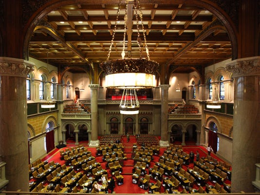The New York state Assembly chambers