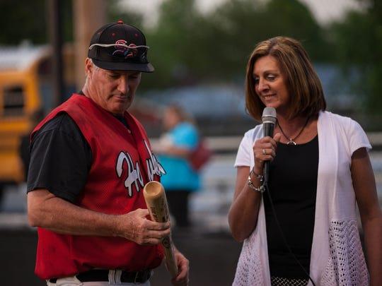 South Side Baseball head coach Johnny Growe was preseted