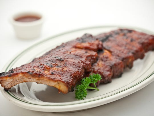Charred ribs, a house specialty at Don & Charlie's.