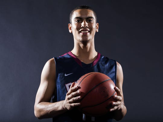 Markus Howard of the All­-Arizona boys basketball team is pictured on Thursday, March 6, 2014 in Phoenix, Arizona.