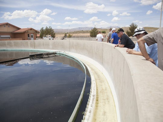 City employees at the St. George Sewage Treatment Plant