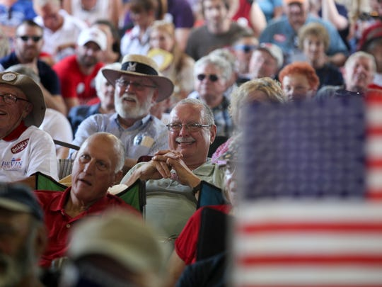 The crowd was amused by the one-liner speeches during the Fancy Farm picnic in 2015.