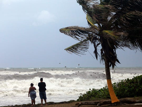 State of emergency in Florida as Tropical Storm Erika nears