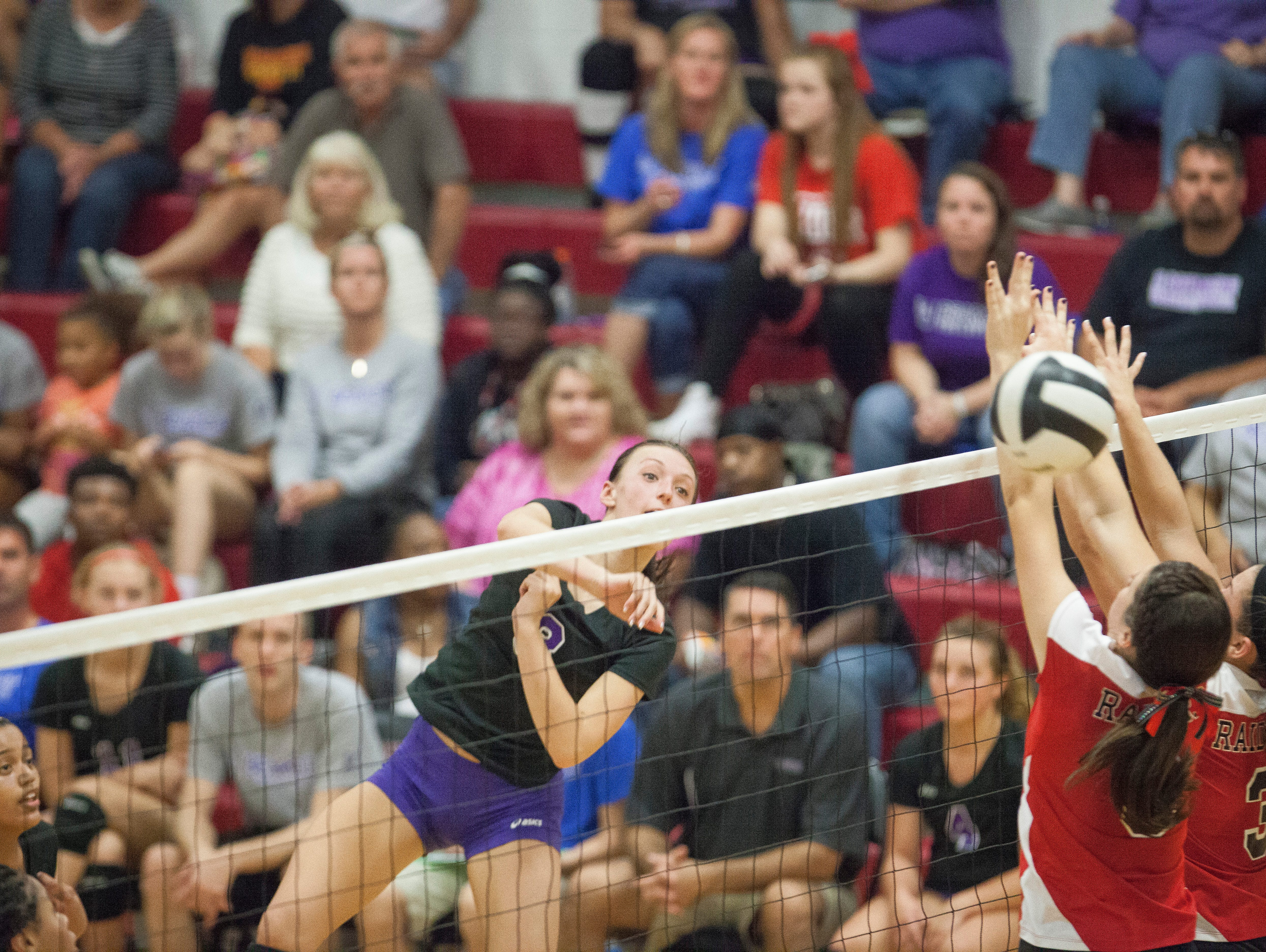 Wapahani took on Central Monday night in a home game. Central swept the game with a final of 3-0>