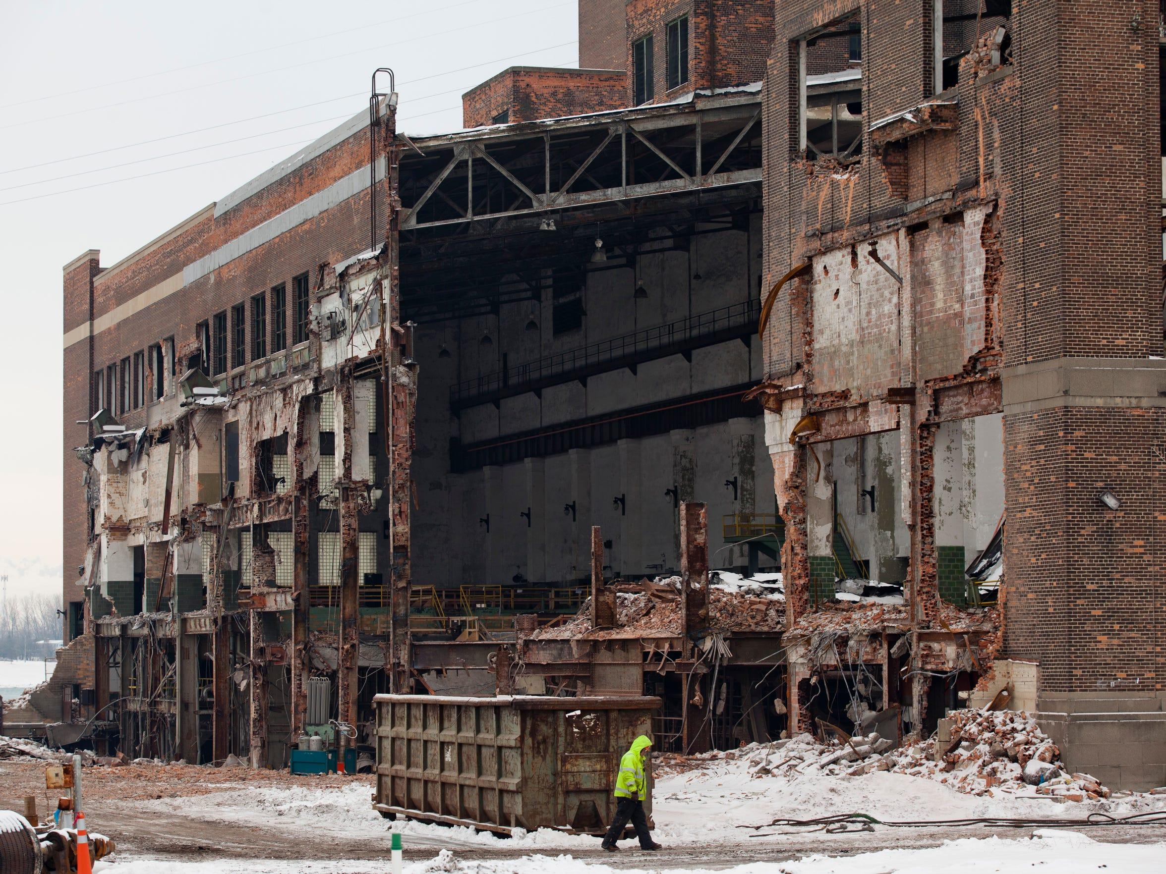 Demolition was underway in this Thursday, Jan. 15,