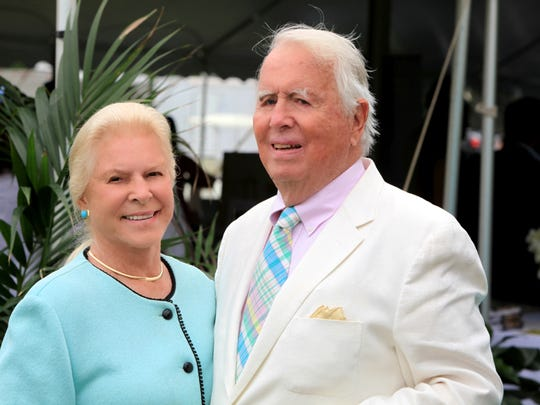 Lois (left) and Eugene Colley at the Mashomack Polo Match on June 27, 2015.