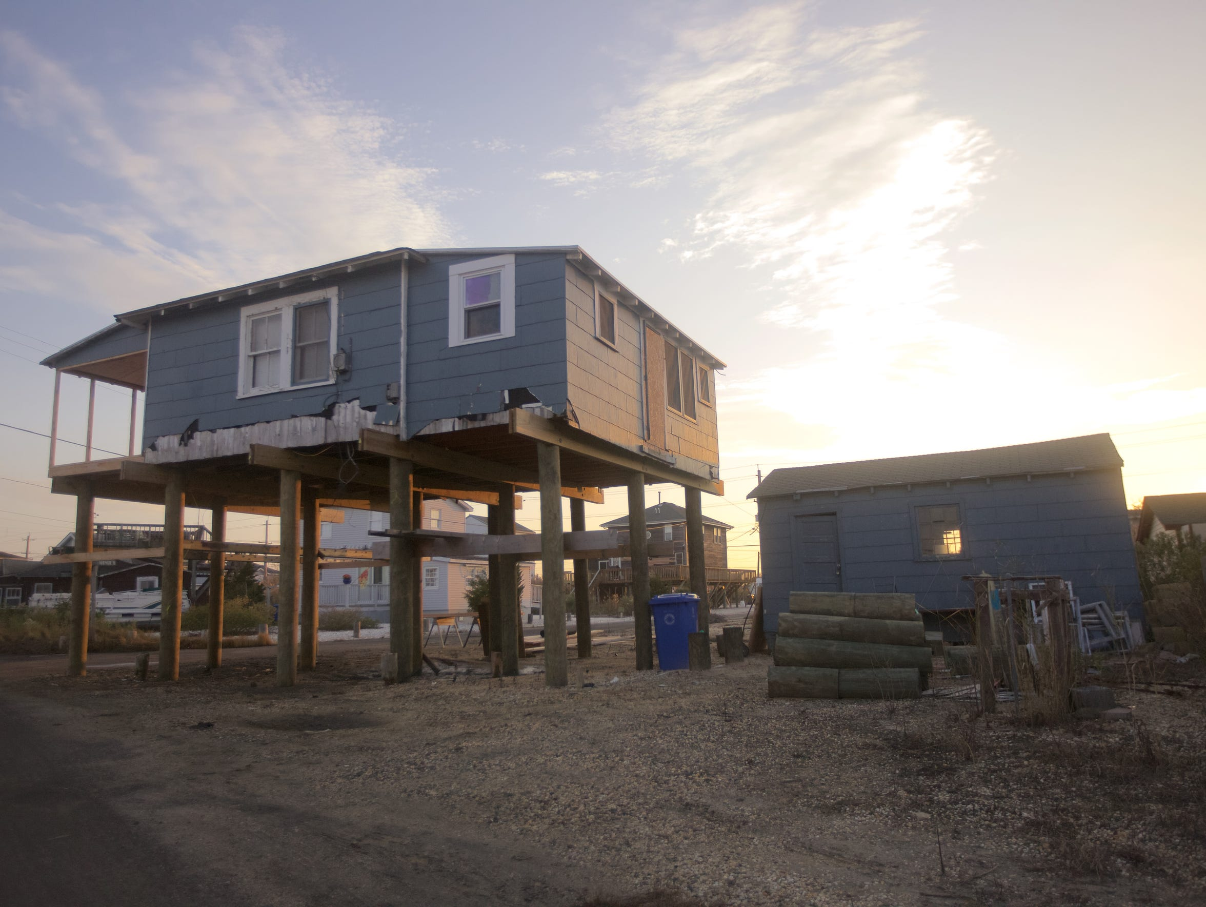 There are still homes in the area recovering from Superstorm