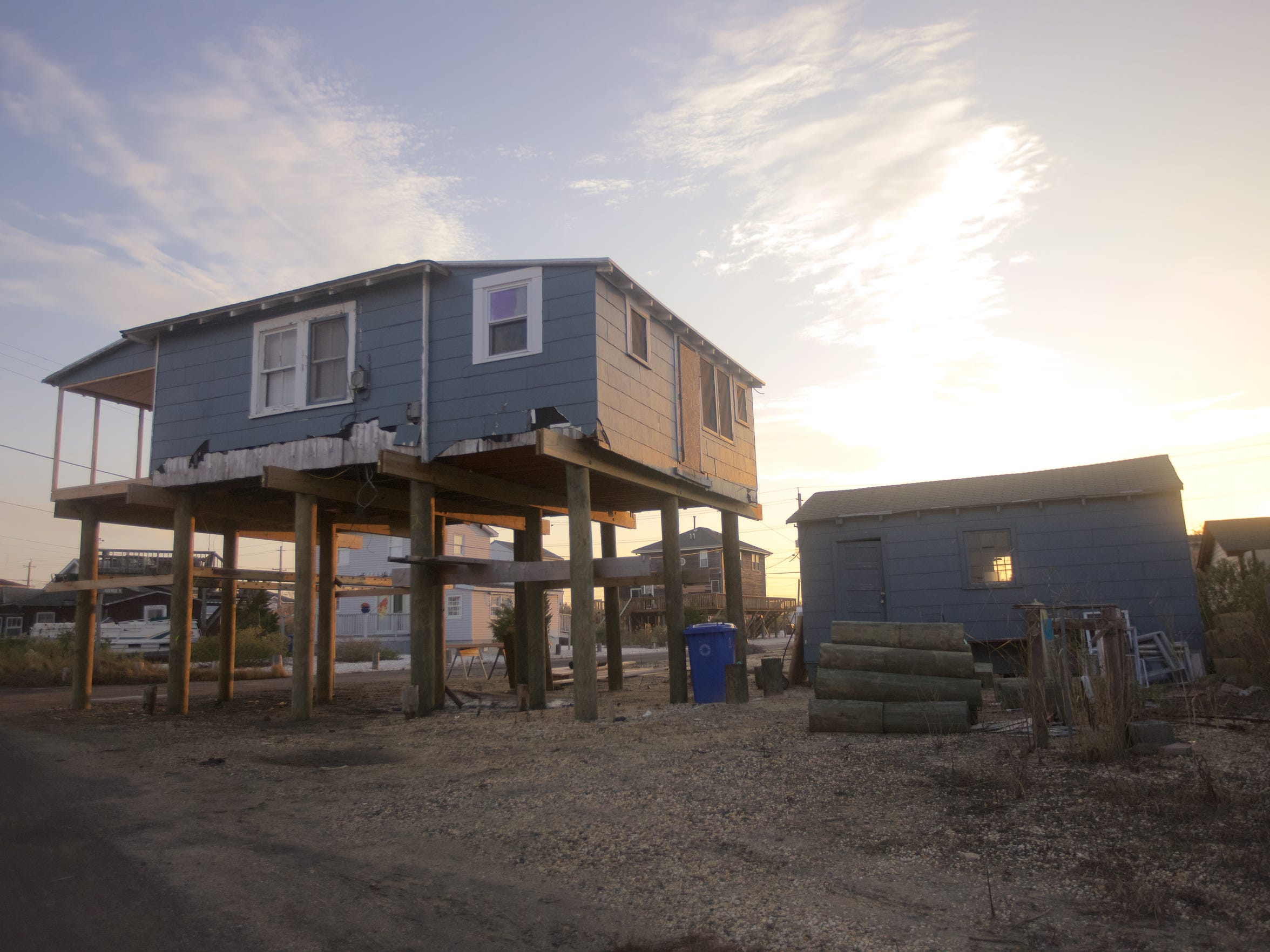 There are still homes in the area recovering from Superstorm Sandy.