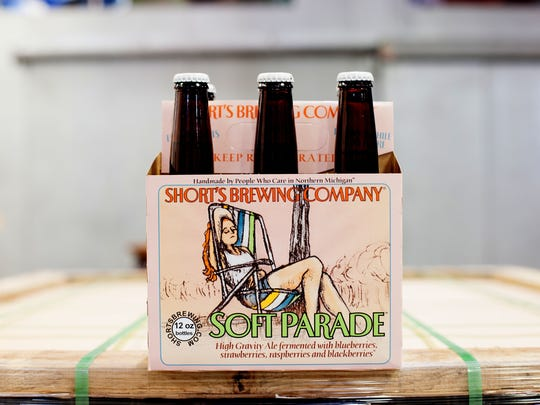 Six pack of Soft Parade ale brewed by Short's Brewing Company.  Picture received Feb. 18, 2014 from  Short's