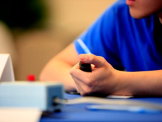 Lexington High School team competes in the 2015 National Science Bowl academic competition on May 3, 2015, in Washington, DC.
