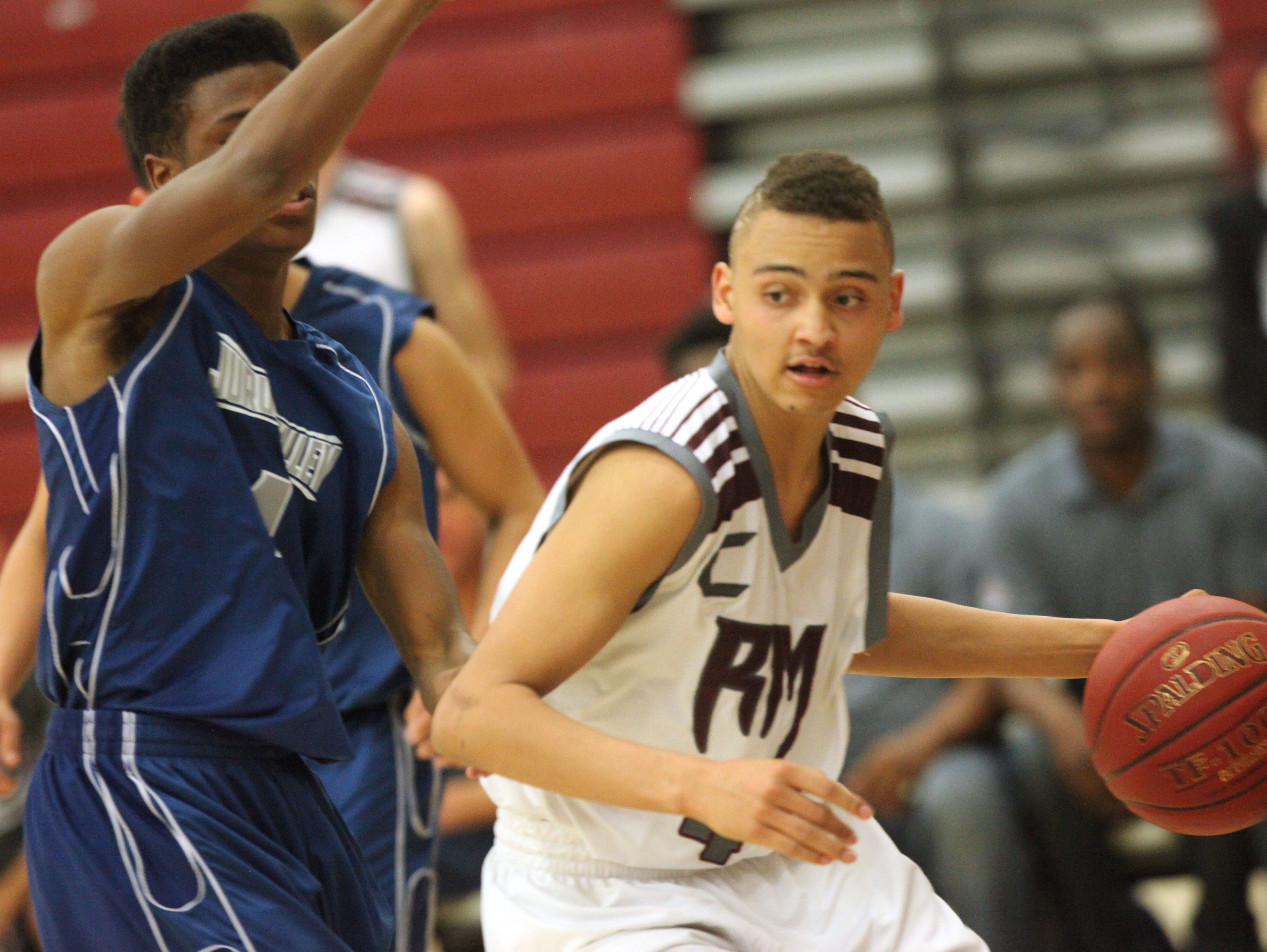 Rancho Mirage High School's Charles Neal scored 32 point to lead his team for a win in CIF against Jurupa Valley.