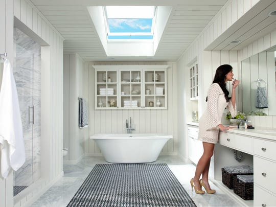 Privacy in the bath, plus healthful natural light and