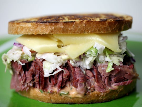 Corned Beef Sandwich. shot in Detroit Free Press studio