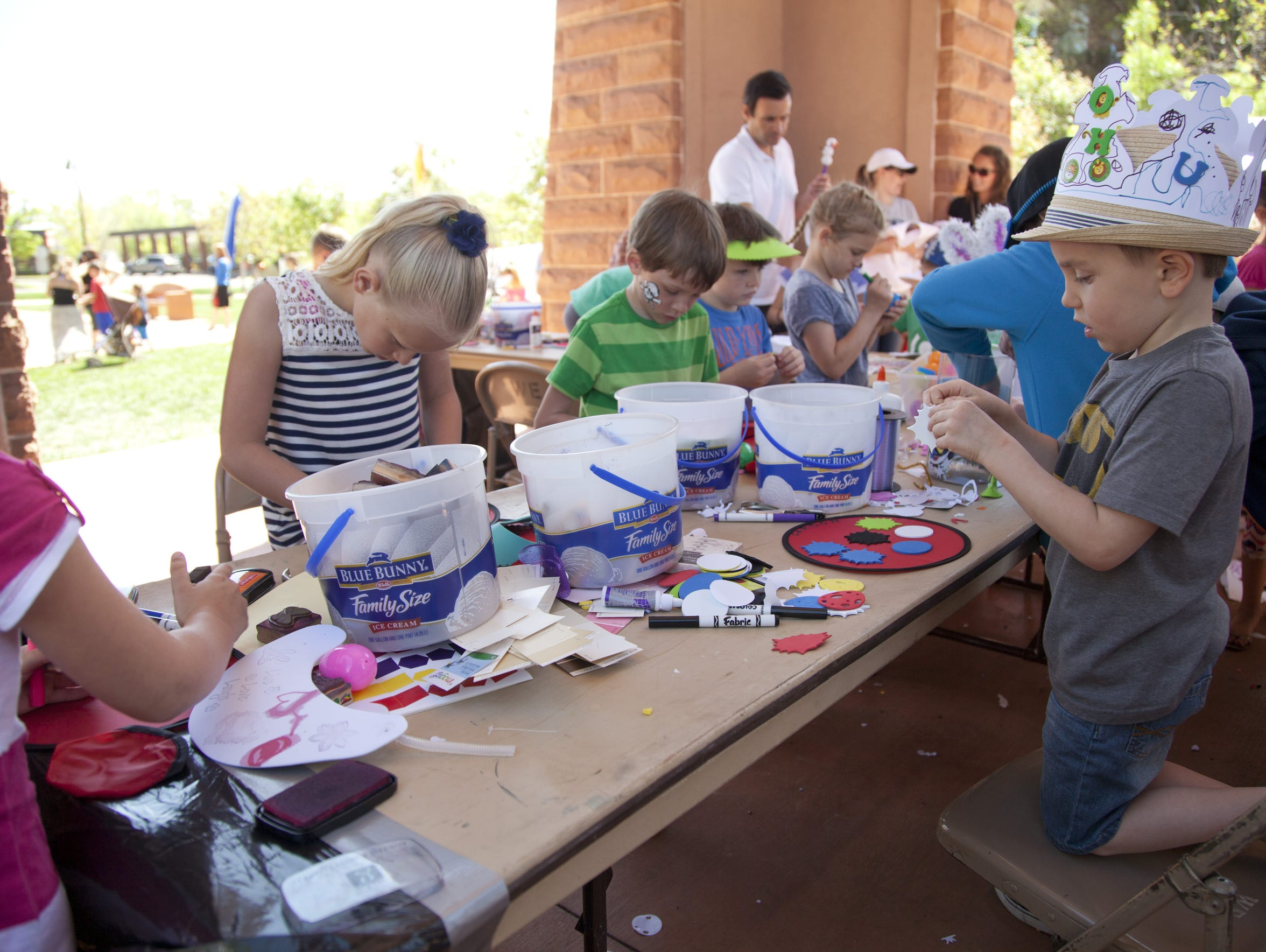 Kids participate in a variety of hands-on projects