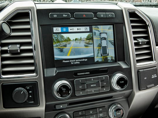 The 2017 Ford F-450 Super Duty Platinum Crew Cab has Ford's new SYNC 3 communications and entertainment system.