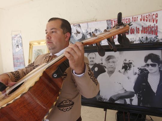 "Mariachi Estrella performs at Veteran's Park in Coachella during the second annual Cesar Chavez ""Price for Justice"" event held in memory of the social activist."
