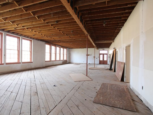 The inside of the music building at Steele Indian School