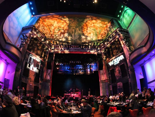 Guests eat dinner and await a show at World Cafe Live