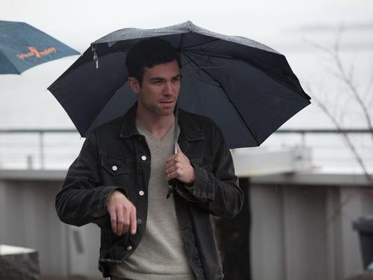 Lead actor, Cameron Scoggins, during a scene walkthrough