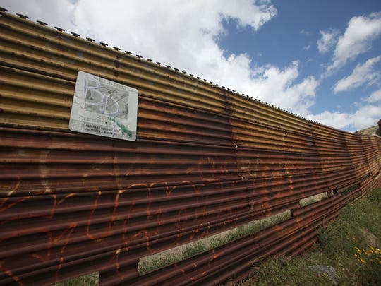 The U.S./Mexico international border is photographed on Tecate, Mexico, side of the border.