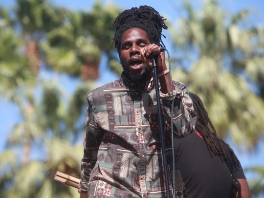 Chronixx plays on the Outdoor Stage during the second
