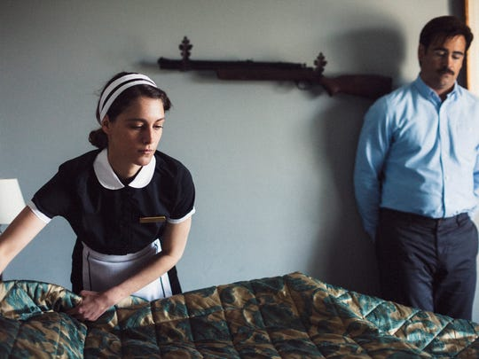 "Ariane Labed as ""The Maid"" and Colin Farrell as ""David"" in ""The Lobster."""