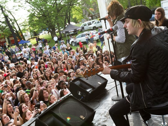 The Ready Set perform at the Wilmington Flower Market in 2011. The annual flower market hosts national and local acts each year.