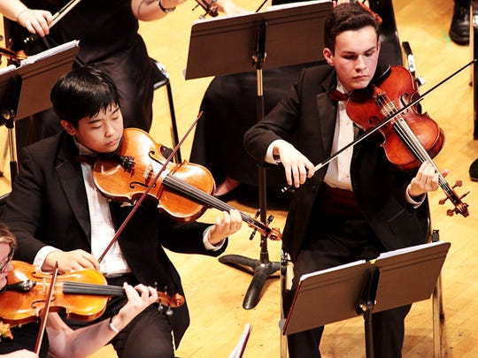 Sprague High School's string orchestra competes in the OSAA Orchestra State Championships at the LaSells Stewart Center at Oregon State University in Corvallis on Thursday, May 12, 2016. The ensemble placed fourth.