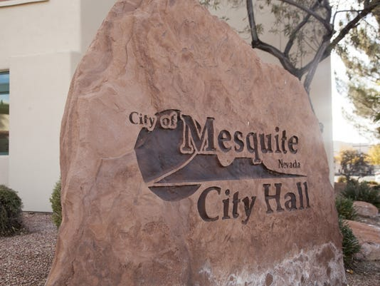 Mesquite City Hall sign