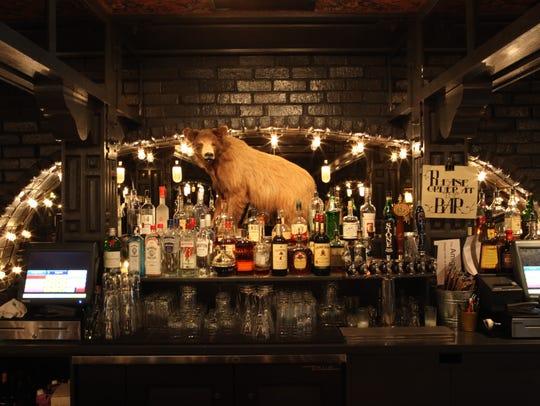 The bar at the Amigo Room inside Ace Hotel and Swim
