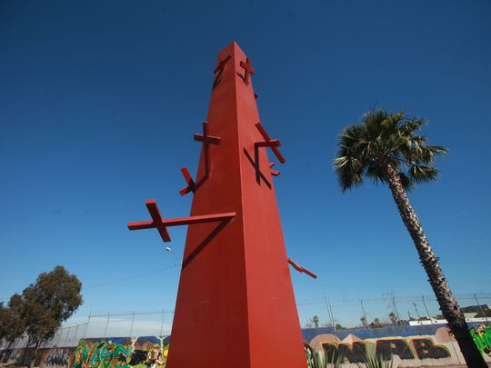 A monument was erected in Tijuana in remembrance of the deaths of migrants trying to cross into the U.S. near the Tijuana International Airport.