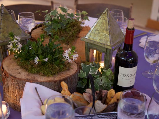Table setting in keeping with the Secret Garden theme.