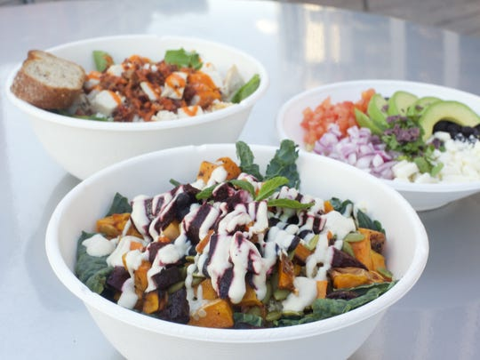 Happy + Hale specializes in fresh cold pressed juices, smoothies and hearty and creative salads and bowls.