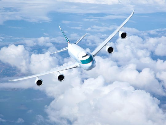 Cathay Pacific 747-8f air to air