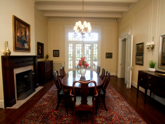 The dining room has hosted many famous guests, including